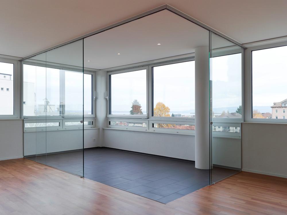 Inspiration wohnen mit glas glasvetia - Glastrennwand wohnbereich ...